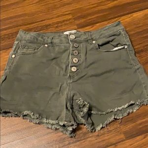 High Waisted Army Green Shorts Charlotte Russe